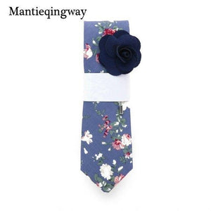 19 Colors Cotton Ties for Mens Floral Printed Tie Slim Gravatasdresskily-dresskily