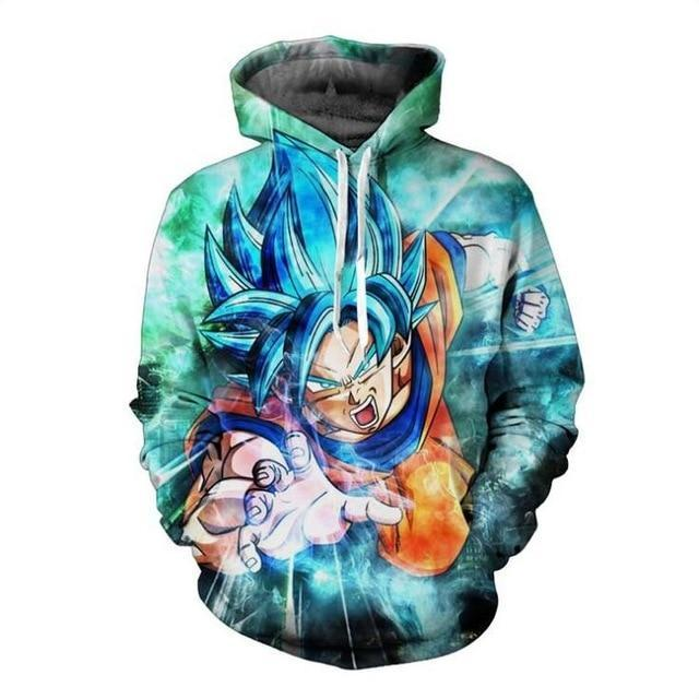 2017 Covrlge Men's Hoodies Christmas Dragon Ball 3D Printed Anime Casual Newdresskily-dresskily
