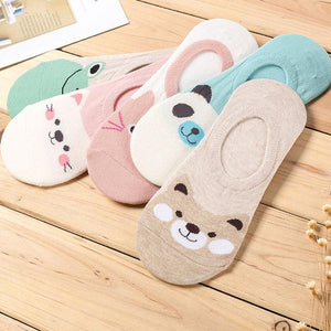 2016 10 pieces=5 pairs new spring and summer silicone invisible anti-skid socksdresskily-dresskily