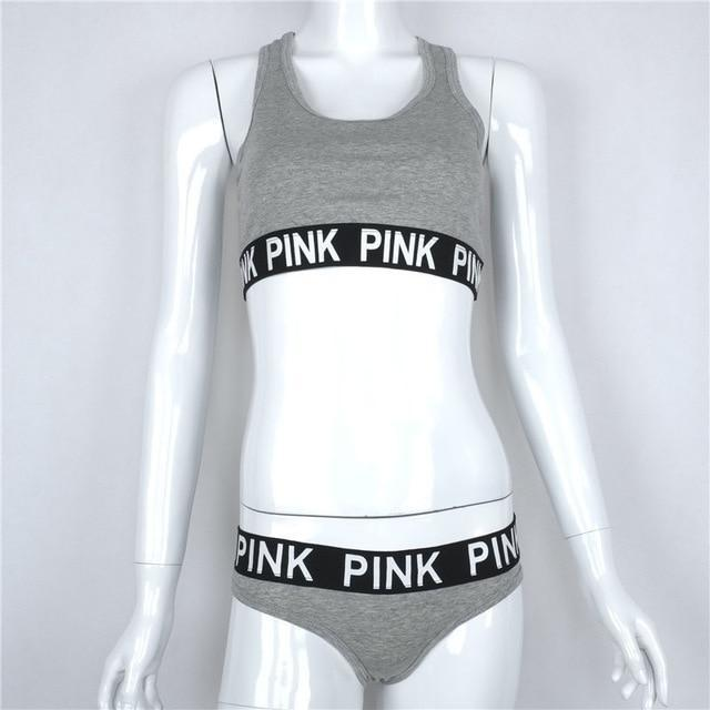 Sexy Bra Set Cotton VS Pink Underwear Women Soutien Gorge Push Updresskily-dresskily
