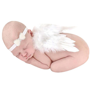 Newborn Photo Props Wing Set Baby Girls Feather Angel Wings Set Newborndresskily-dresskily