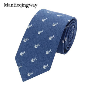 Fashion New Brand Men Denim Ties for Bridegroom Neck Ties fordresskily-dresskily
