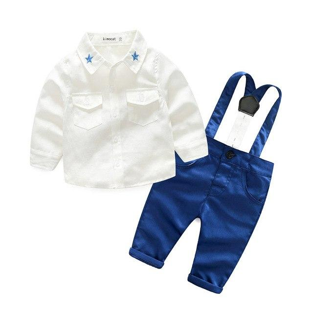 Kimocat Young baby spring fall new suit boy gentleman long sleeve stardresskily-dresskily
