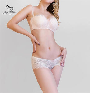 2018 new Wire Free Push Up Lace Brassiere briefs Underwear Women Bradresskily-dresskily