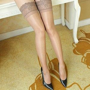 Sexy Stockings Hot Women Black Thigh High Waist Gloss Silk Overknee Stockingsdresskily-dresskily