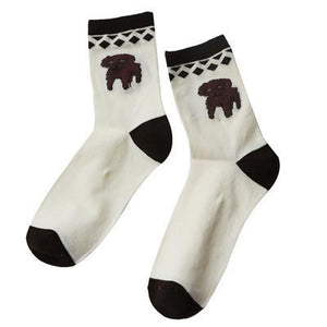 Cute Animal 3D Cartoon Funny Socks Women Christmas Socks Long Calcetines Mujerdresskily-dresskily
