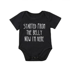 Newborn Baby Boy Girl Cotton Funny Word Romper Short Sleeve Jumpsuitdresskily-dresskily