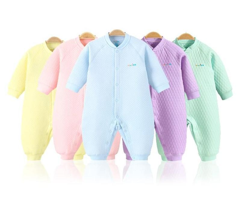 YOUQI Winter Unisex Baby Clothes Warm Boys Rompers 3 6 9 18dresskily-dresskily