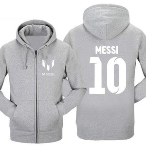 Pkorli Barcelona MESSI Hoodie Messi 10 Print Cardigan Men Hoodies Sweatshirts Casualdresskily-dresskily