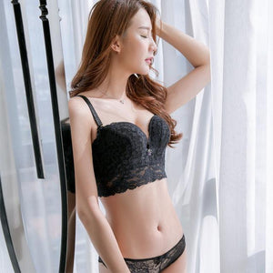 Europe Women Underwear Set Sexy Lace Bra Set Wire-Free Gather Together Deepdresskily-dresskily