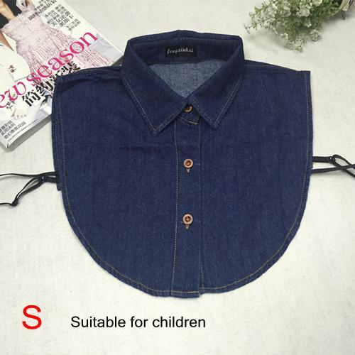 2017 Fake Collar Shirt Vintage Blue Jeans Detachable Collar Vintage False Collarsdresskily-dresskily