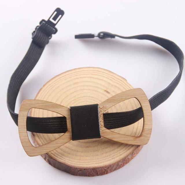Charming Unique Wooden Bow Tie Men Geometric Scissors Laser Cutout Jewelry Accessorydresskily-dresskily