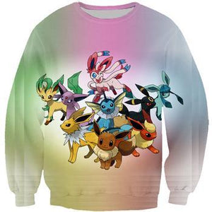 Brand clothing Pokemon 3d Hoodies Cartoon jumper print Men Women funnydresskily-dresskily