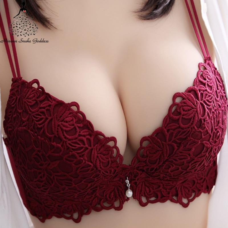 Bra set Embroidery Hollow Out Bra and Panties Sets Pushdresskily-dresskily