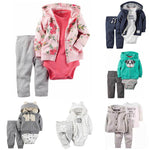 Flowers Baby Girls Clothes 3 Piece Of Sets Kids Clothing Sets Casualdresskily-dresskily