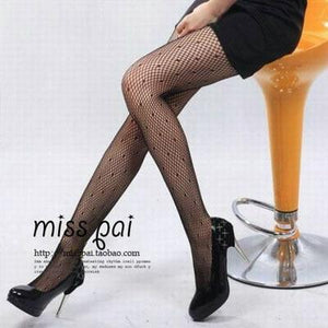 Fashion Womens Lady Girls Black Sexy Fishnet Pattern Jacquard Stockings Pantyhose Tightsdresskily-dresskily
