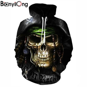 Hot hoody Men&Women Hoodies Couples Casual Style 3D captain Print Personality Autumndresskily-dresskily