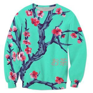 2017 fashion Sweatshirt Men/Women Streetwear Long Sleeve Outerwear sakura Arizona teadresskily-dresskily
