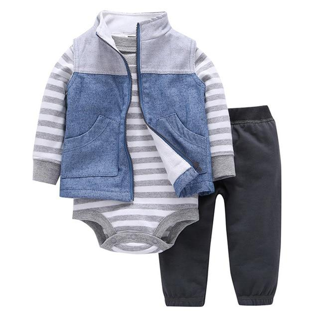 2018 New Baby Girls Clothes 100% Cotton Hooded Coat + pants +dresskily-dresskily