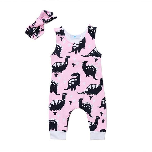 2017 Brand New Cute Toddler Infant Newborn Baby Girls Boys Sleeveless Dinosaurdresskily-dresskily