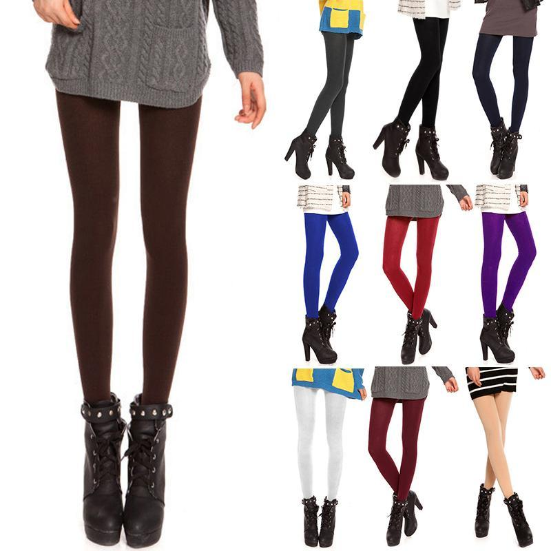 10 Colors Sexy Women Tights 120D Anti-Hook Wire Velvet Pantyhose Warm Thindresskily-dresskily