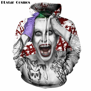 Suicide Squad Joker 3D Hoodie Sweatshirt 2018 Autumn Funny Hooded Casualdresskily-dresskily