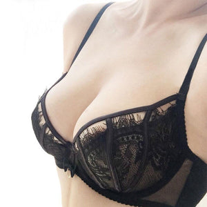 sexy thin Eyelash lace bra set underwear women Big size Bradresskily-dresskily
