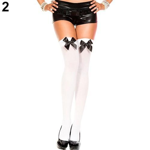 Women's Fashion Stretch Lace Bow Thigh High Over The Knee Sexy Socksdresskily-dresskily