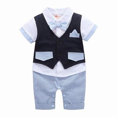 Boys Formal Clothing Kids Attire For Boy Clothes Short Sleeve Baby Romperdresskily-dresskily