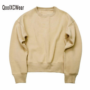 2018 NEW Sweatshirts simple solid men's Hoodies oversize drooping shoulders men'sdresskily-dresskily
