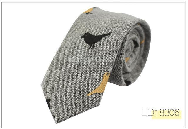 Fashion Ties for Men Cotton Narrow Tie Skinny Cravat Neckties for Winterdresskily-dresskily
