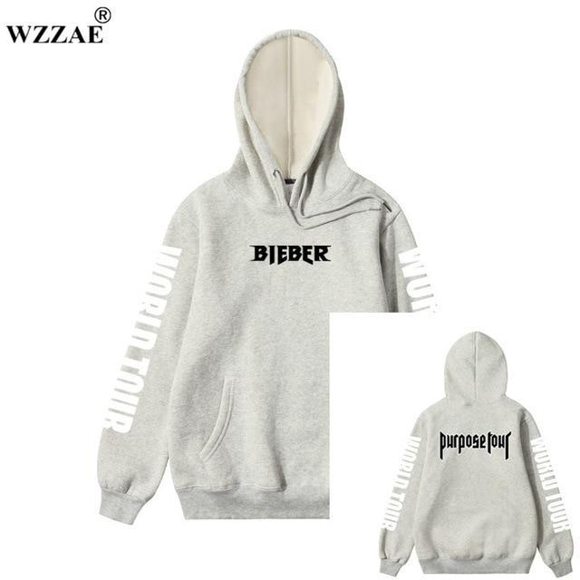 2017 Justin Bieber Purpose Tour Print Hoodie Men Hip hop Streetwear Fleecedresskily-dresskily
