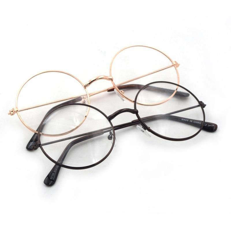 Vintage Round Gold Color Glasses Eyewear Women Cute Optical Glasses Framesdresskily-dresskily