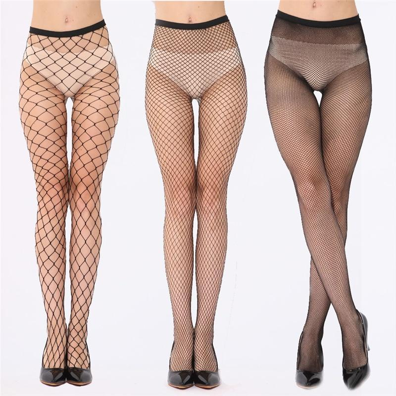 Elastic Black Mesh Tights Women Sexy Fish Net Pantyhose Female Longdresskily-dresskily