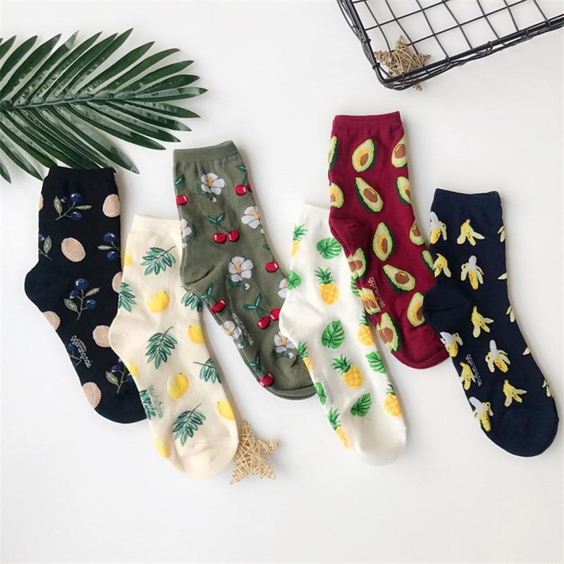 Women Cute Avocado Blueberry Banana Pineapple Lemon Orange Fruit Cottondresskily-dresskily