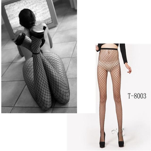 Sexy Rhinestone Tights Stockings Mesh Female Pantyhose In A Grid Womendresskily-dresskily