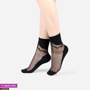 Sexy Lace Mesh Fishnet Socks Mixed Fiber Transparent Stretch Elasticity Ankle Netdresskily-dresskily