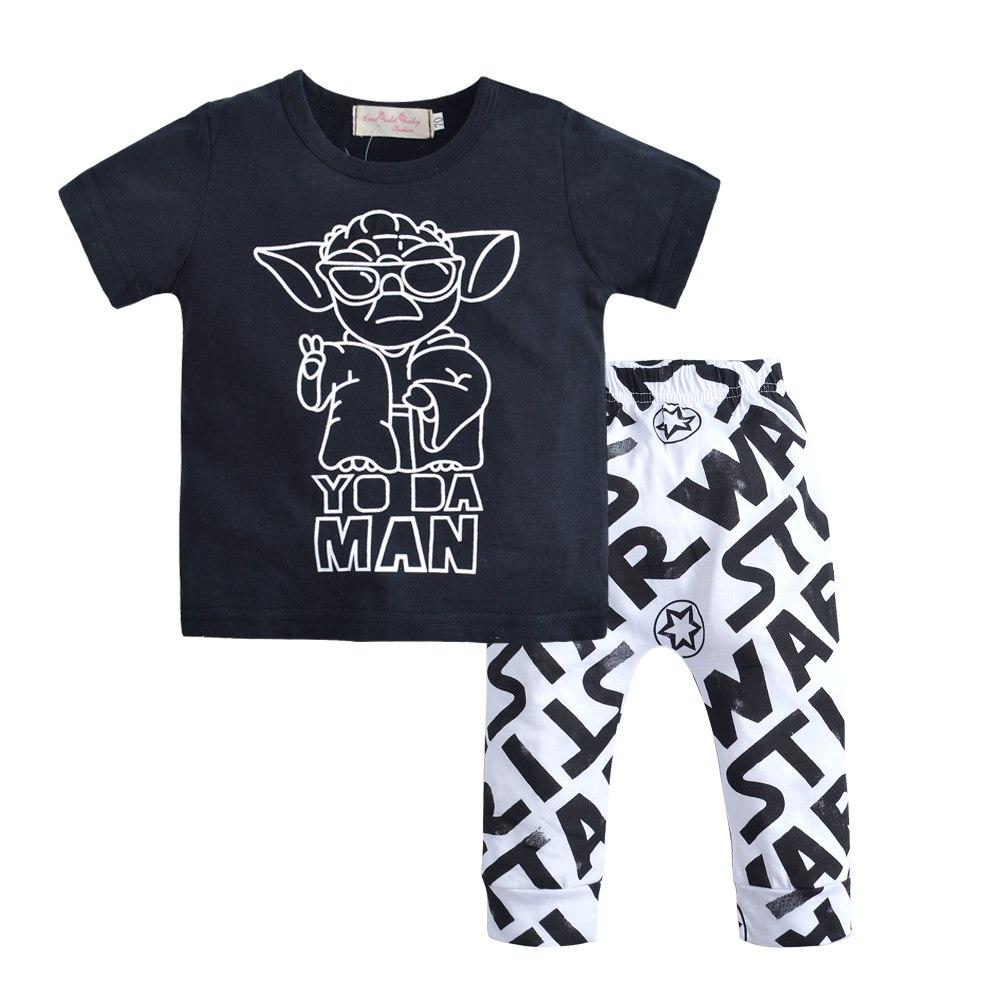 2018 Summer Newborn Infant Baby Boy Clothes Set T-shirt Tops + Pantsdresskily-dresskily