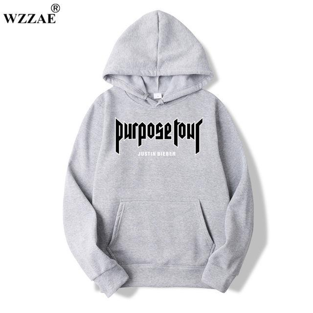 Purpose Tour Hoodie JAPAN Staff Justin Bieber Sweatshirt Men Black White Thedresskily-dresskily