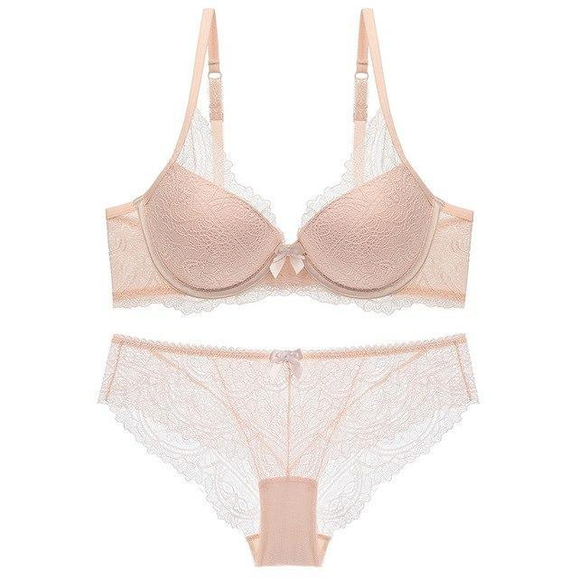 Lace Underwear Set Bra Brief Set Push Up Bralette Underwear Bra Anddresskily-dresskily