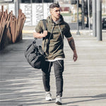 2018 Men's hoodies AS Gyms Hoodies short-sleeve hoodies men sweatshirt belt patchworkdresskily-dresskily