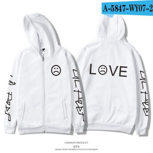 Lil Peep Hoodies Men Zipper Comfortable Homme Printing Fashion Harajuku Newdresskily-dresskily