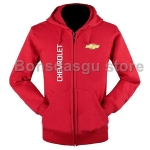 High Quality Chevrolet logo zipper Hooded Sweatshirt for women and men's Zipperdresskily-dresskily