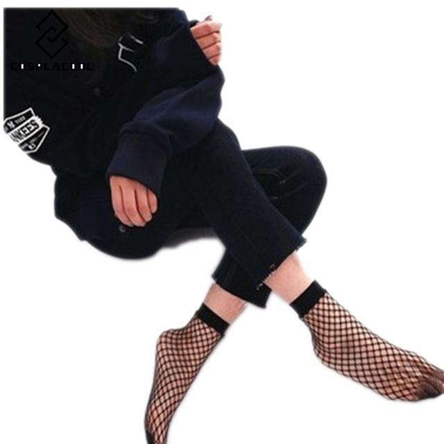 2017 Sexy Fishnet Socks Women Ankle High Socks Mesh Lace Fish Netdresskily-dresskily