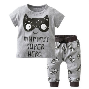 New 2018 summer infant clothes baby boy clothing sets little monsters anddresskily-dresskily