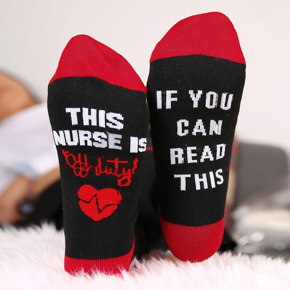 48 hour delivery Women Socks Funny Letter Printed IF YOU CAN READdresskily-dresskily