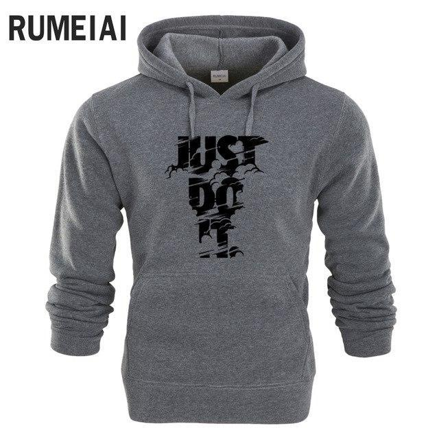 2018 New Fashion Mens Hoodies JUST BREAK IT print Hoodies Sweatshirt Mendresskily-dresskily