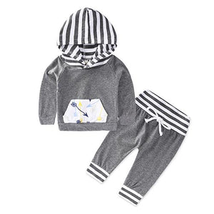 2018 new arrival Baby Sets baby boys clothing set autumn children hoodies+pantsdresskily-dresskily