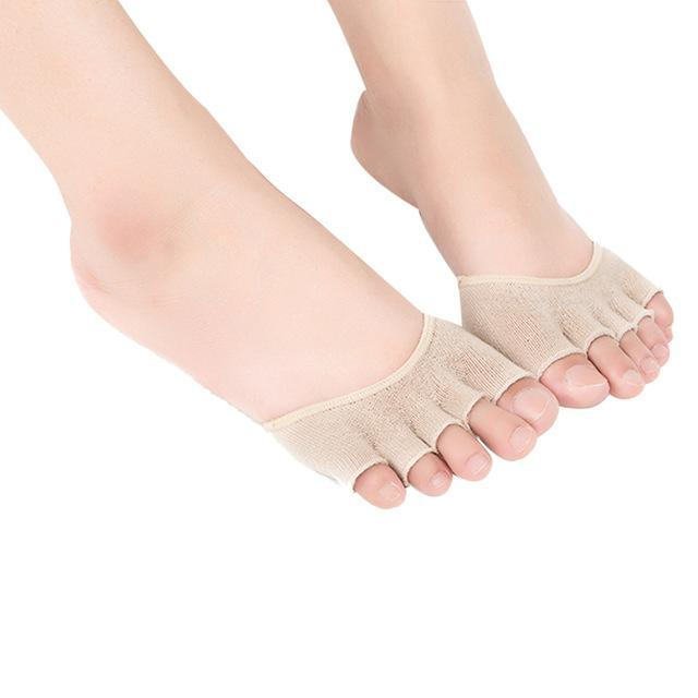 Chamsgend Newly Design Women Invisible Non Slip Toe Socks Half Gripdresskily-dresskily