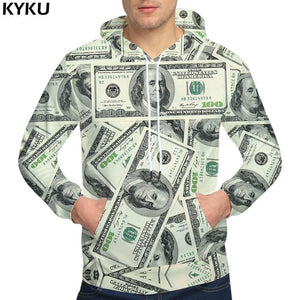 Brand Dollars Hoodies Money Sweat shirt Funny 3d hoodies Hip Hopdresskily-dresskily